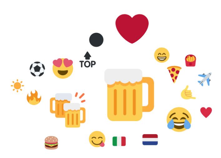 la birra in icone