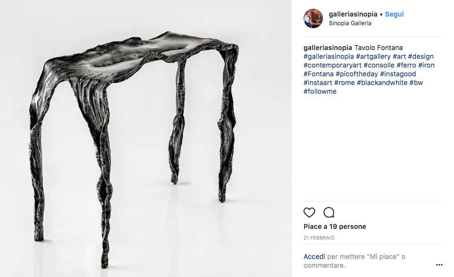 Arte contemporanea Roma instagram