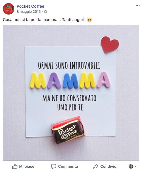 Festa della mamma pocket coffee adv