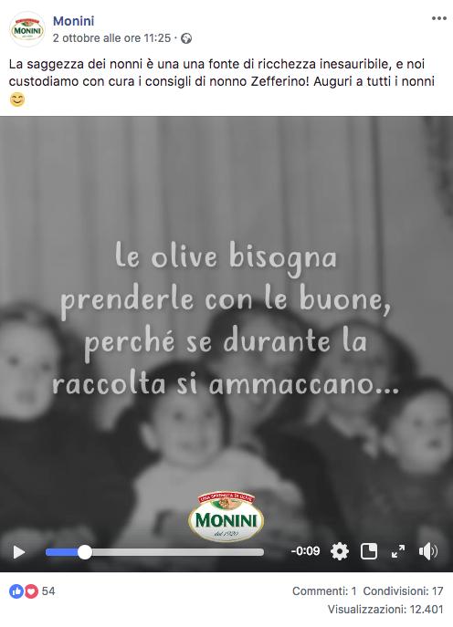 Festa dei nonni 2018 Monini facebook