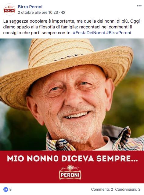 Festa dei nonni 2018 Peroni facebook