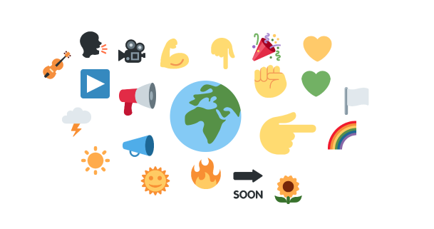 Fridays for Future emojis cloud