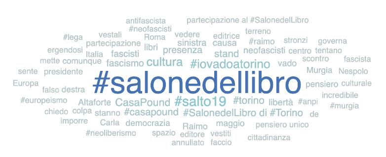 Salone del Libro 2019 hashtags